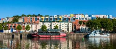 Bristol harbourside at sunrise royalty free stock image