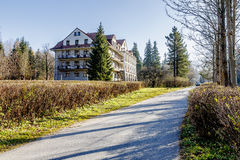 Bristol Hotel in a quiet area of Zakopane Stock Photography