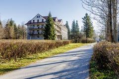 Bristol Hotel in a quiet area of Zakopane Stock Photography