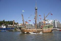 BRISTOL, INGLATERRA - 19 DE JULIO: La nave de la vela de la reproducción el FE de Matthew Fotos de archivo libres de regalías