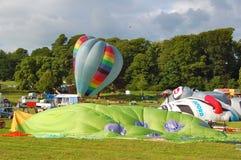 Bristol International Balloon Fiesta. Hot air balloons being inflated at Bristol International Balloon Fiesta Royalty Free Stock Photo
