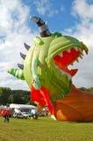 Bristol International Balloon Fiesta. Hot air balloon being inflated at Bristol International Balloon Fiesta Stock Image