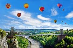 Bristol-internationale Ballon-Fiesta lizenzfreies stockbild