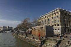 Bristol, Kingdrom unido, o 23 de fevereiro de 2019, centro de Arnolfini para artes contemporâneas em Bristol fotografia de stock