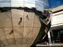 Bristol Live Site, London 2012. Milennium Square at Bristol (reflected in the iconic sphere), one of the designated Live Sites across the UK for the London 2012 Royalty Free Stock Images