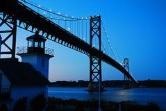 Bristol Mount Hope Bridge dans Île de Rhode photos libres de droits
