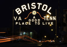 Bristol Neon Sign Imagem de Stock Royalty Free