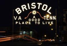 Bristol Neonowy znak obraz royalty free