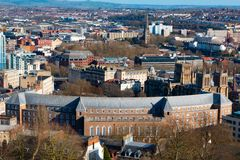 Bristol from above on a sunny day royalty free stock photo