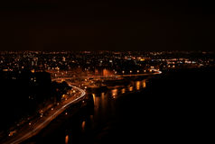 Bristol par nuit Photo libre de droits