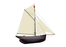 Bristol pilot cutter yacht Royalty Free Stock Image