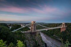 Bristol, ponte sospeso di Clifton Fotografia Stock