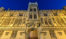Bristol ratusz nocą Zdjęcia Royalty Free