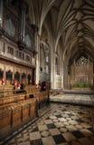 Bristol, Regno Unito, febbraio 2019, punto di vista del coro in Bristol Cathedral fotografie stock libere da diritti