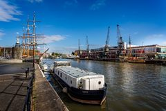 Bristol Bristol rentré par harbourside, Somerset, R-U le 26 octobre 2015 Images stock