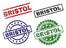 BRISTOL Seal Stamps texturisé grunge Illustration Libre de Droits
