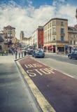 Bristol stadsgata Fotografering för Bildbyråer