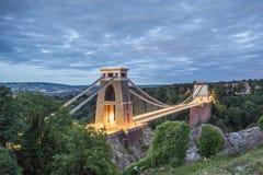 Bristol, suspensão Brige de Clifton Fotografia de Stock Royalty Free