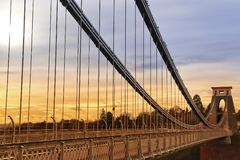Bristol Suspension Bridge Royalty-vrije Stock Afbeelding