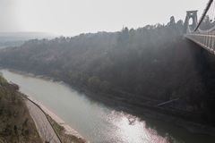 Bristol suspension bridge over the river Avon royalty free stock photos