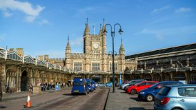 Bristol Temple Meads raiway and bus station, designed by the British engineer Isambard Kingdom Brunel, October 15, 2017 stock photo