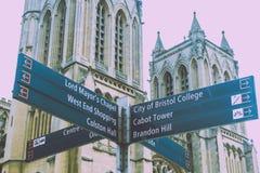 Bristol Tourist Signpost photo libre de droits