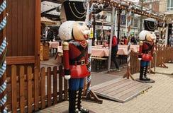 Bristol tysk julmarknad Arkivfoton