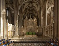 Bristol, United Kingdom, February 2019, View of the altar in Bristol Cathedral royalty free stock image