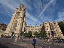 Bristol University Wills Memorial i Bristol arkivbild
