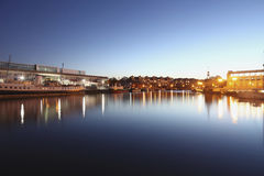 Bristol. View of Bristol, UK, by the harbour Royalty Free Stock Photo