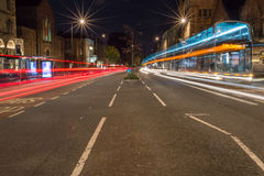 Bristol, Whiteladies Rd by night. ENGLAND, BRISTOL - 29 SEP 2015: Whiteladies Rd by night stock image
