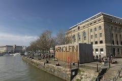 Bristol, Zlany Kingdrom, 23rd 2019 Luty, Arnolfini Centre dla dzisiejszych ustaw w Bristol obraz stock