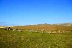 Brisworthy kamienia okrąg, dartmoor park narodowy Devon fotografia stock