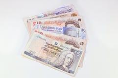 Británico y escocés golpea el billete de banco Imágenes de archivo libres de regalías