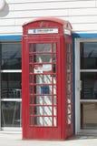 Británicos Callbox en Falkland Islands Foto de archivo libre de regalías