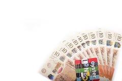 Británicos 10 libras imagenes de archivo