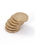 Británicos, Reino Unido, monedas de libra Imágenes de archivo libres de regalías