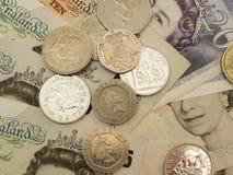 Británicos Sterling Pounds Imagen de archivo libre de regalías
