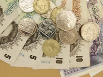 Británicos Sterling Pounds Fotografía de archivo libre de regalías