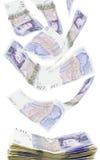 Británicos veinte notas de la libra fotografía de archivo
