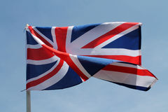 Brit flag flying high Stock Photos