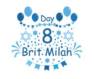 Brit Milah Jewish tradition. Holiday. Judaism. Greeting cards for a boy. vector illustration stock illustration