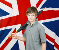 Brit with umbrella Royalty Free Stock Photography