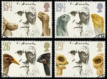 britain Charles Darwin portostämplar Royaltyfri Foto