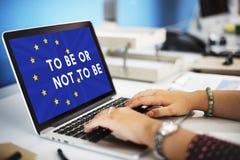 Britain EU Brexit Referendum Concept Royalty Free Stock Images