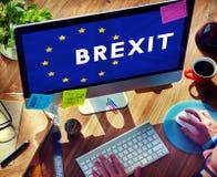 Britain EU Brexit Referendum Concept. People Britain EU Brexit Referendum Royalty Free Stock Images