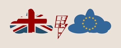 Britain exit from European Union relative image royalty free illustration