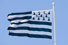 Breton  brittany flag Royalty Free Stock Photo