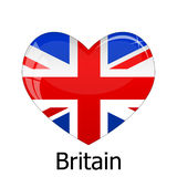 Britain Flag. Vector Britain Flag on a white background Stock Image