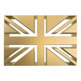 Britain flag. Golden britain flag mark Royalty Free Stock Photography